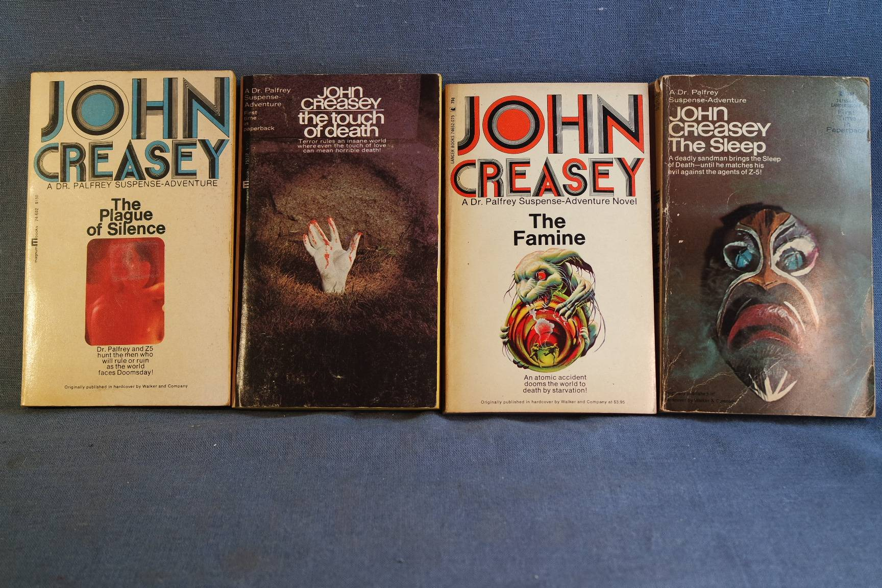 Details about Lot of 4 Rare John Creasey Dr  Palfrey Mystery Suspense  Adventure 1960-1970s